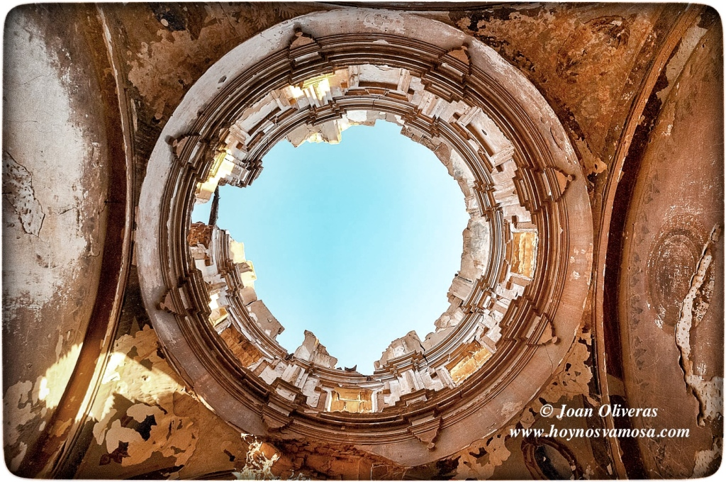 Estado de la bóveda central de la Iglesia de San Martín de Tours